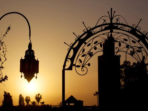 Minaret of the Koutoubia Mosque at Sunset, Marrakesh, Morocco, North Africa, Africa Photographic Print