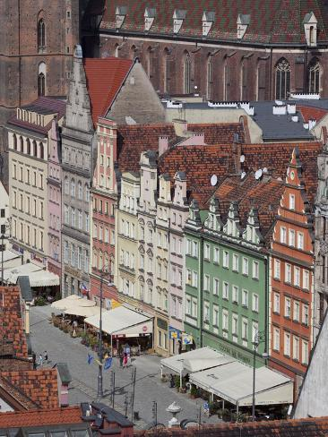 Old Town View from Marlii Magdaleny Church, Wroclaw, Silesia, Poland, Europe Photographic Print
