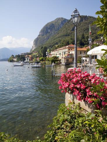 Town and Lakeside, Menaggio, Lake Como, Lombardy, Italian Lakes, Italy, Europe Photographic Print