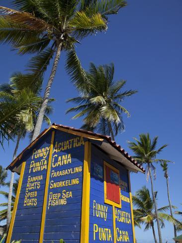 Watersports Hut, Bavaro Beach, Punta Cana, Dominican Republic, West Indies, Caribbean, Central Amer Photographic Print