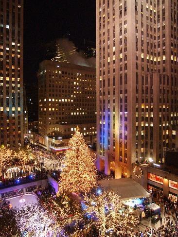 Rockefeller Tree Lighting Photographic Print