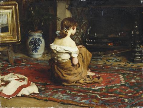 By the Fireside, 1878 Giclee Print