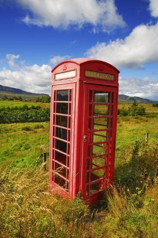British Telephone Box Impressão fotográfica