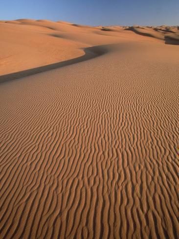 Dunes landscape in Erg Murzuk Photographic Print