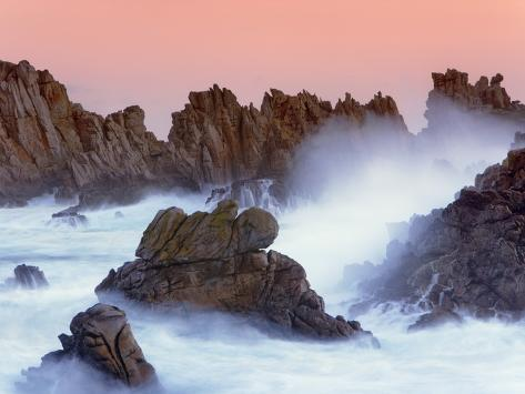 Sea stacks and spume at the Pointe de Creac'h Photographic Print