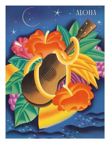 The Essence Of Aloha, Menu Cover c.1930s Giclee Print