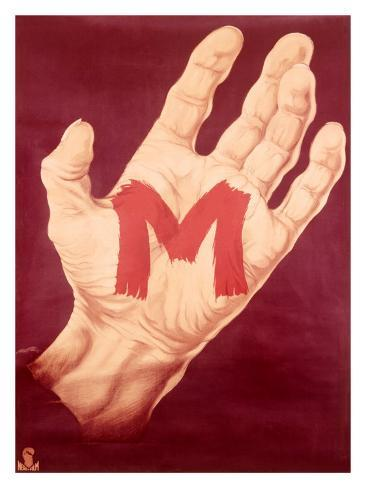 Red M Hand Giclee Print