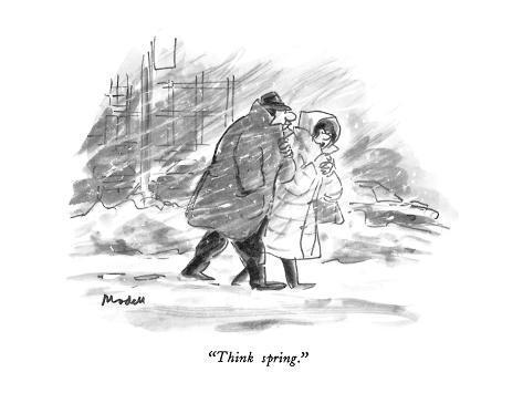 """Think spring."" - New Yorker Cartoon Premium Giclee Print ..."