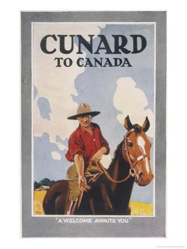 Cunard to Canada, a Welcome Awaits You Giclee Print