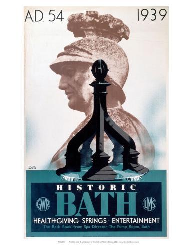 Historic Bath, GWR/LMS, c.1939 Art Print