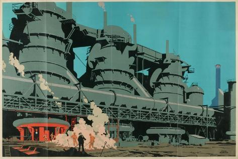 Steel Manufacturing in the United Kingdom Giclee Print