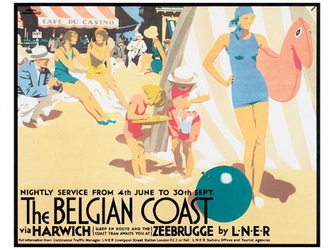 The Belgian Coast Premium Giclee Print