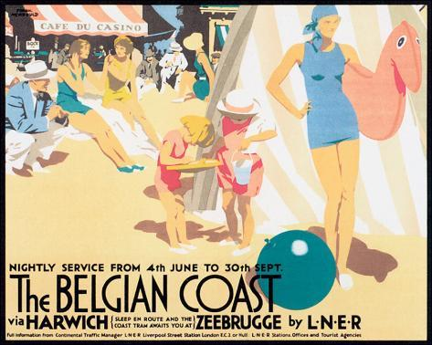 The Belgian Coast Stretched Canvas Print