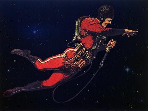 Sci Fi - Gravitron Jet Pack, 1928 Stretched Canvas Print