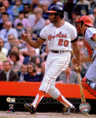Frank Robinson 1970 World Series Action Photo