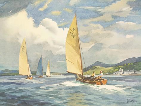 Sailing Dinghies on the Clyde Giclee Print