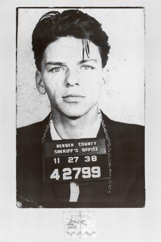 Frank Sinatra Mugshot Poster