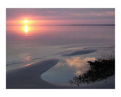 Sunset, Florida Stretched Canvas Print