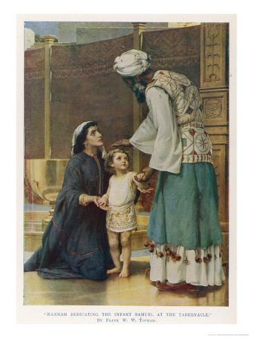Hannah Wife of Elkanah Takes Her Young Son Samuel to the Temple at Shiloh Giclee Print