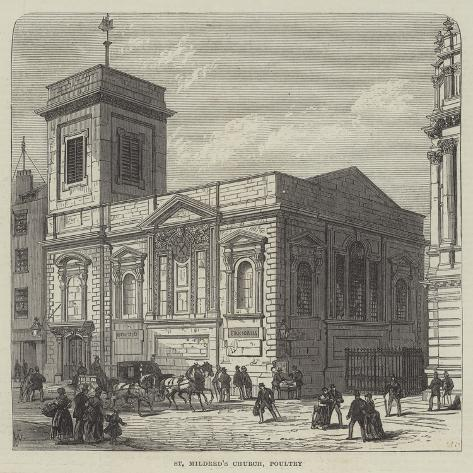 St Mildred's Church, Poultry Giclée-vedos