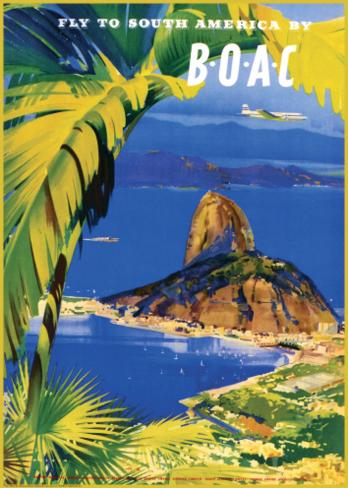 Fly to South America by BOAC Art Print