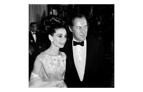 Audrey Hepburn and Rex Harrison Art Print