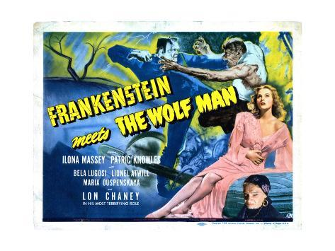 Frankenstein Meets the Wolf Man, Ilona Massey, Maria Ouspenskaya, 1943 Impressão giclée