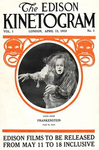 Frankenstein Movie Augustus Phillips 1910 Poster Print Poster