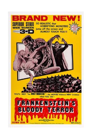 Frankenstein's Bloody Terror Giclee Print