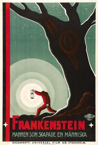 Frankenstein - Swedish Style Poster