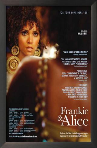 Frankie and Alice Impressão artística emoldurada