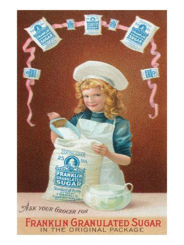 Franklin Granulated Sugar Art Print