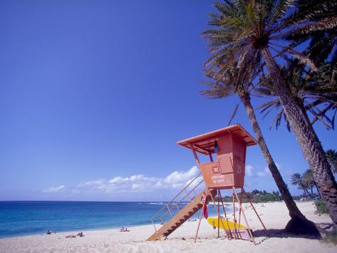 Sunset Beach Oahu Hawaii Impressão Fotográfica