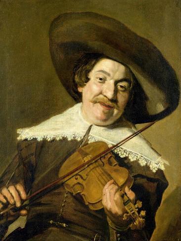 Daniel Van Aken Playing the Violin, C.1640 Impressão giclée