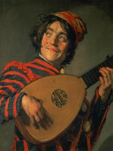 Portrait of a Jester with a Lute Giclee Print