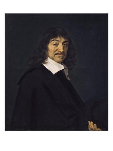 Portrait of René Descartes Art Print