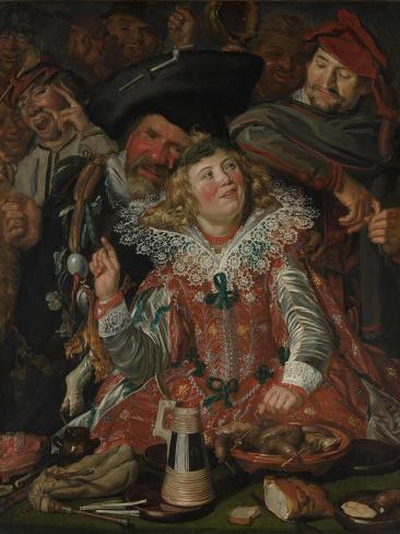 Shrovetide Revellers (The Merry Company) c.1615 Lámina giclée