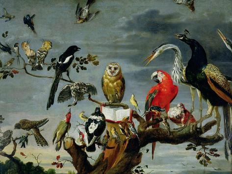 Concert of Birds Giclee Print