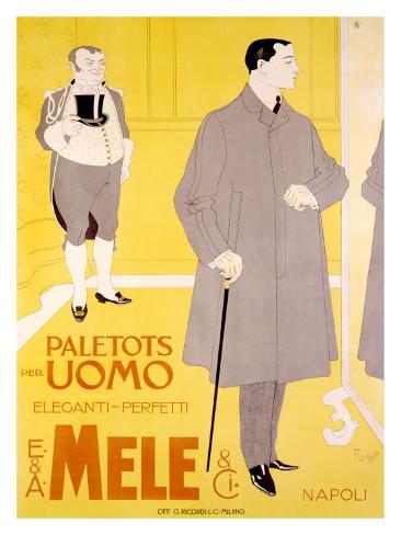 E&A Mele, Paletots Per Uomo Giclee Print