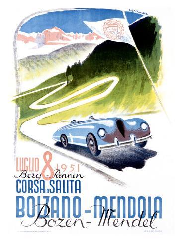Corsa Bolzano to Mendola Giclee Print