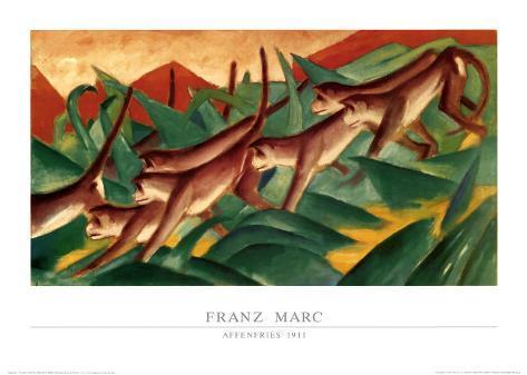 Affenfries, 1911 Art Print