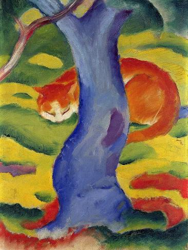 Cat Behind a Tree, 1910/11 Giclee Print