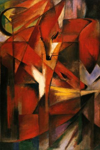 Franz Marc (Red Foxes) Impressão artística