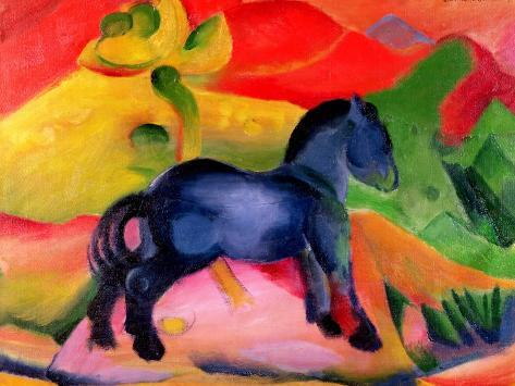 Little Blue Horse, 1912 Giclee Print