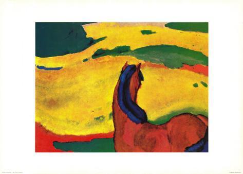 Pferd in Landschaft Art Print
