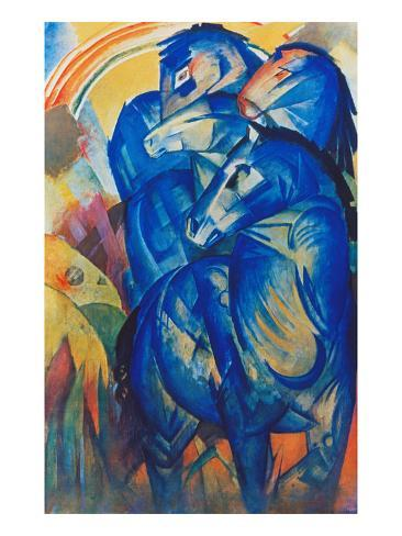 Tower of Blue Horses, 1913 Giclee Print