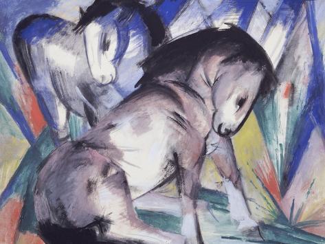 Two Horses, 1913 Giclee Print