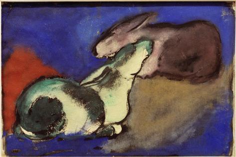 Two Sleeping Rabbits, 1913 Giclee Print