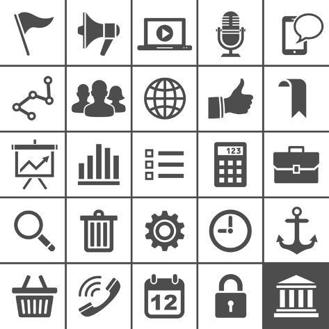 Universal Icons Art Print