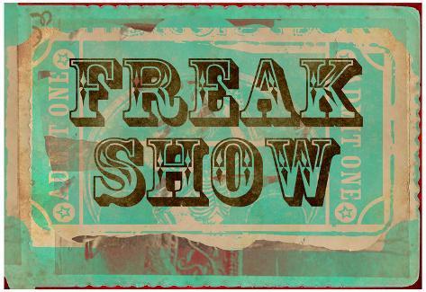 Freak Show Ticket Poster